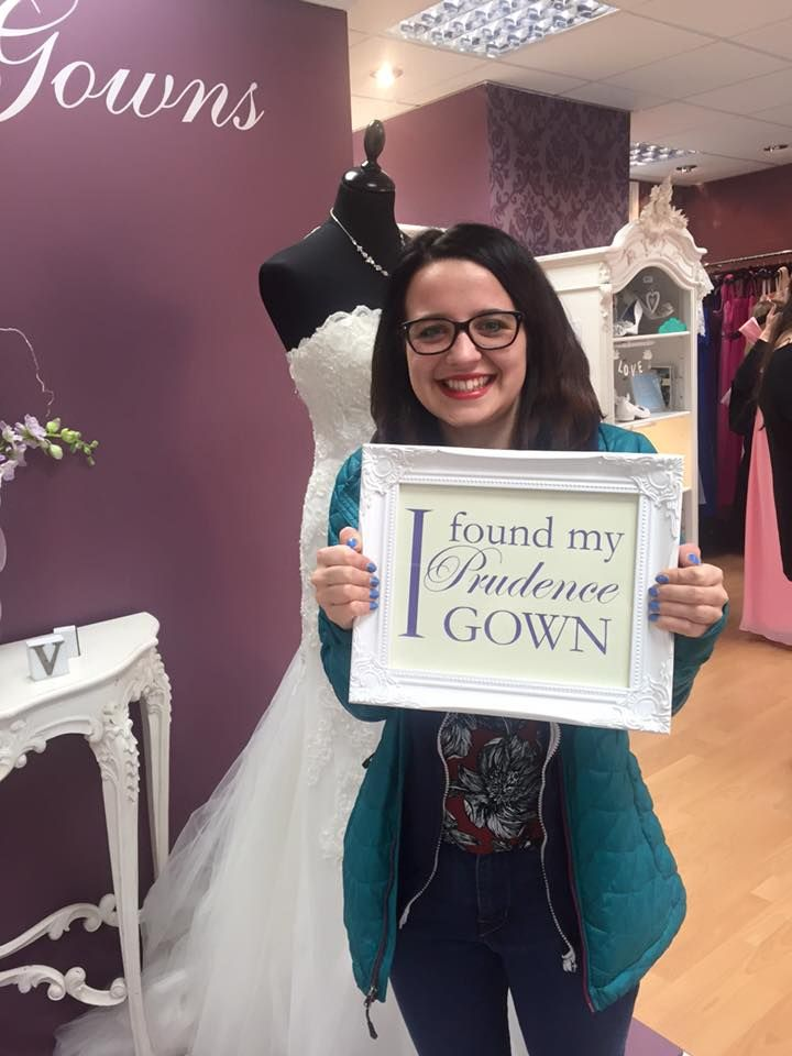 Bryony found her #promdress for her #prom in our #Plymouth store today. YAY! #DressingYourDreams #PrudenceGowns