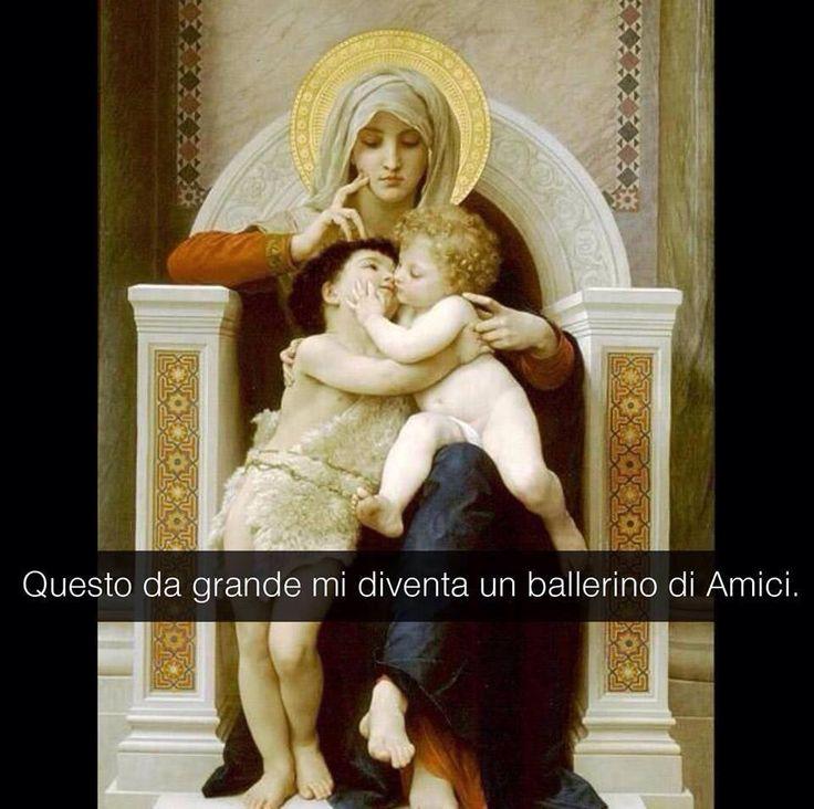 William -Adolphe Bouguereau . La Vergine e i bambini