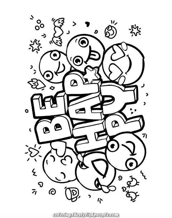 The Best Emoji Coloring Guide For Women Emoji Coloring Pages Coloring Pages For Girls Coloring Books