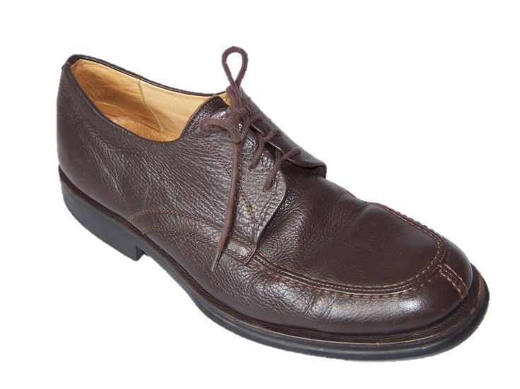 Nice casual shoes for about town...  Sandro Moscoloni Brown Leather Oxford Shoes Mens 11 D #SandroMoscoloni #Oxfords