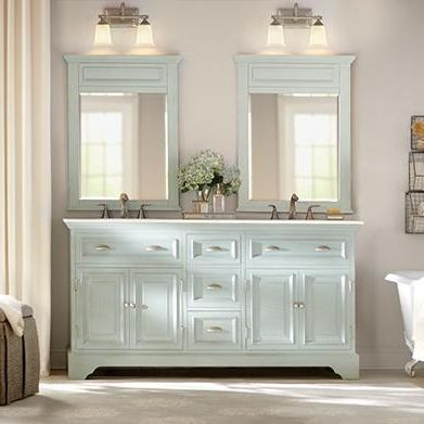 Perfect Bring A New Look To Your Bathroom With Home Decorators Collection Sadie  Double Vanity In Antique Cream With Marble Vanity Top In White With White  Basin.