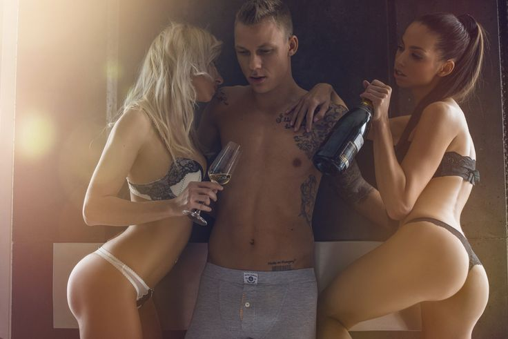 threesome with Champagne.