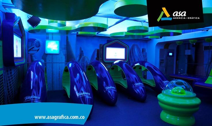 Ambientación de espacios  - Módulos  - Vinilos adhesivos decorativos  - Ambientación de espacios  www.asagrafica.com.co