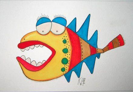 Dessin ou maquette aquarellée de Kerry Heath via Etsy