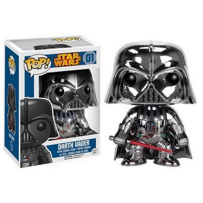 Figurine POP Star Wars Dark Vador Chrome Exclusive