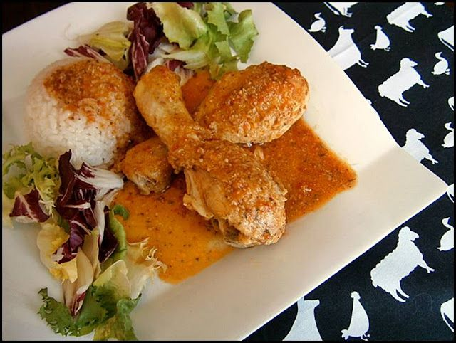 Azafrán de hebra: Pollo con salsa de almendras