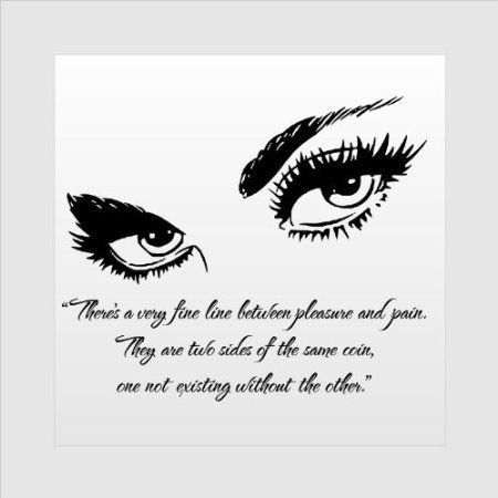 Wall art decal fifty shades of grey a fine line for Decor my eyes