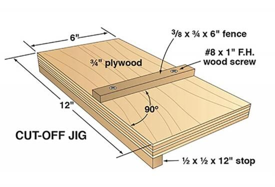 Take a few minutes to build this cut-off jig in your shop, and you'll take accuracy with you anywhere.