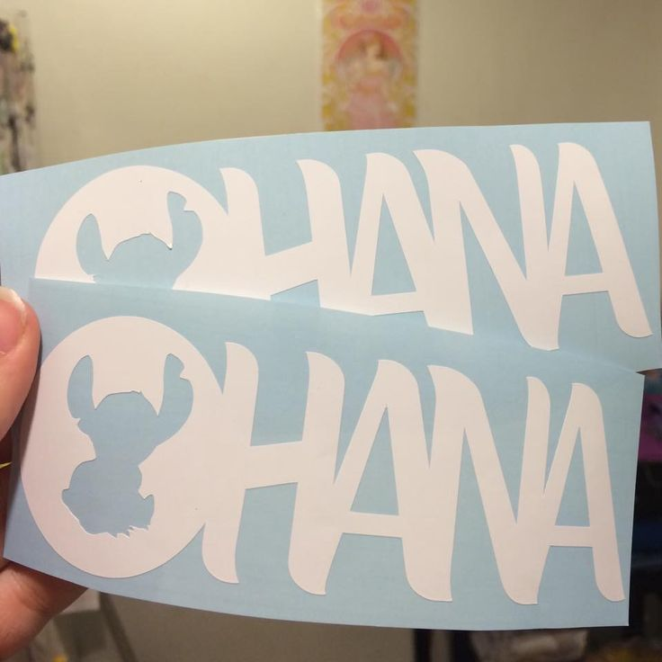 Disney Finds - Ohana all weather vinyl decal