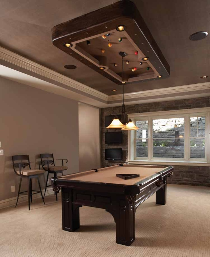 Billiard room with creative ceiling designs BilliardFactorycom