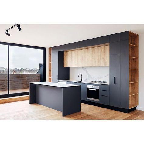 Cuisine meubles extérieurs noirs, meubles du cent… – #cent #cuisine #du #ext…