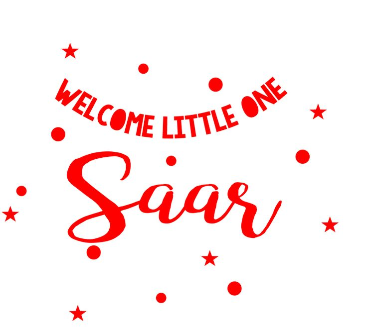 Geboortesticker type Saar | Geboortesticker meisje | Geboortesticker Company
