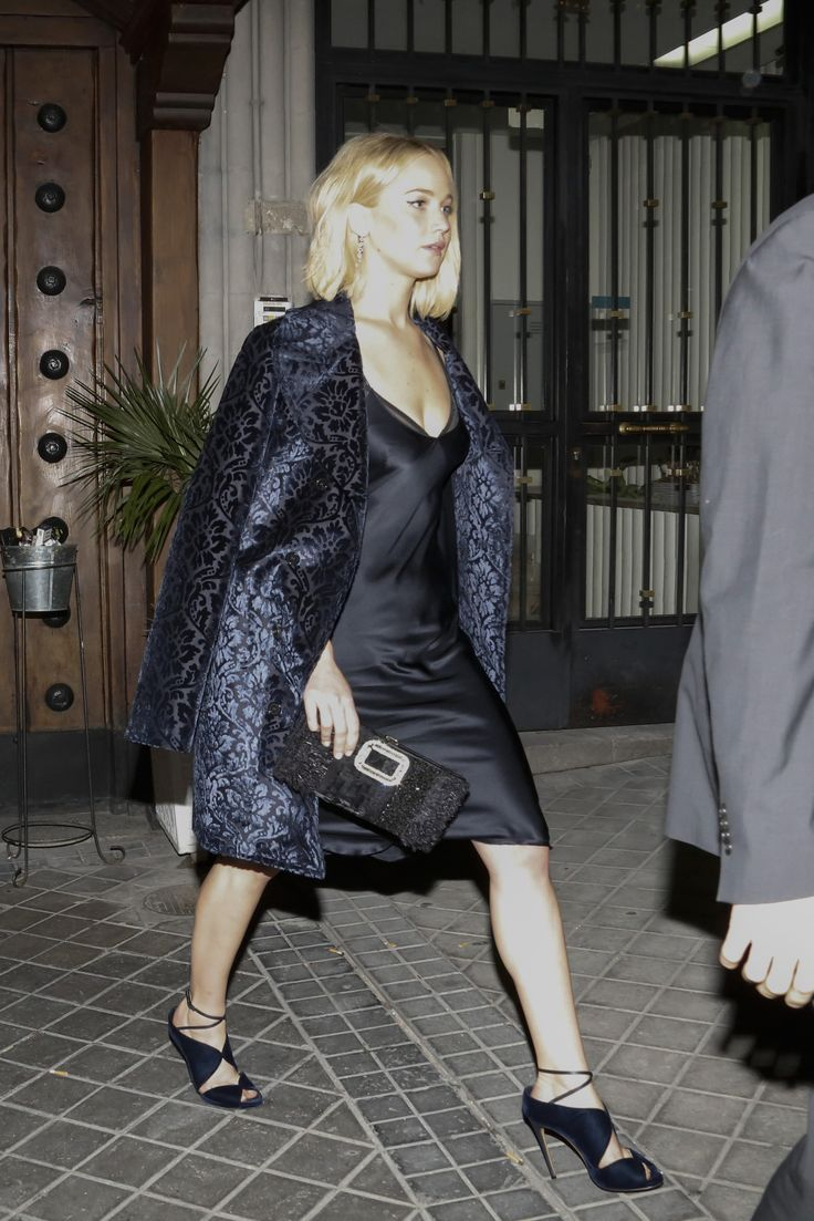 Jennifer Lawrence Leaving the Asador Donostiarra in Madrid 11/10/15