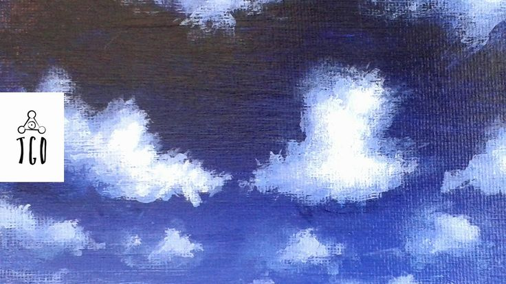 Simple Cloud Painting Tutorial Acrylic     #painting #art #acrylicpainting #tutorial #howto #clouds #sky
