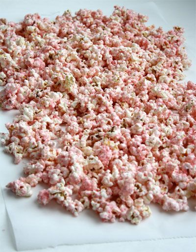 White Chocolate Peppermint Popcorn. Made this last year, it was fantastic. I suggest melting the white chocolate on the stove, not in the microwave. It's generally a big hit.