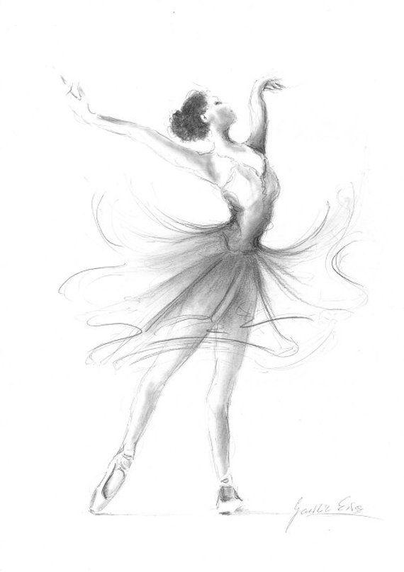 Ballerina Print, Ballerina Sketch, Print of Drawing, Picture Ballerina, Ballet Dancer, Ballerina Wall Art, Girl Room Decor, Gift for Girl