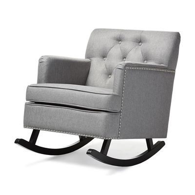 Baxton Studio BBT5189 Bethany Upholstered Rocking Chair
