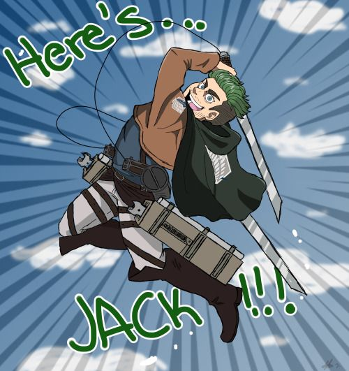 errorxlii: HWOAH! WHO'S THIS GUY? The Attack on Titan game was beautiful and I loved jacksepticeye 's play through. Slayin' those titans left and right…Levi should consider placing Jack in his squad. therealjacksepticeye: ooooooh awesome!!! :D