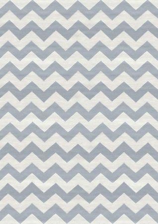 Grey Chevron Wool Rug