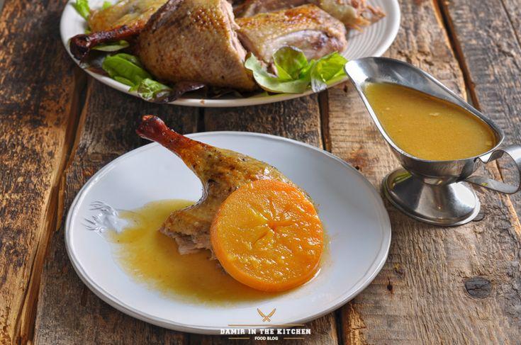 Утка а-ля Оранж с хурмой и гранатом - Foodclub — кулинарные рецепты с пошаговыми фотографиями