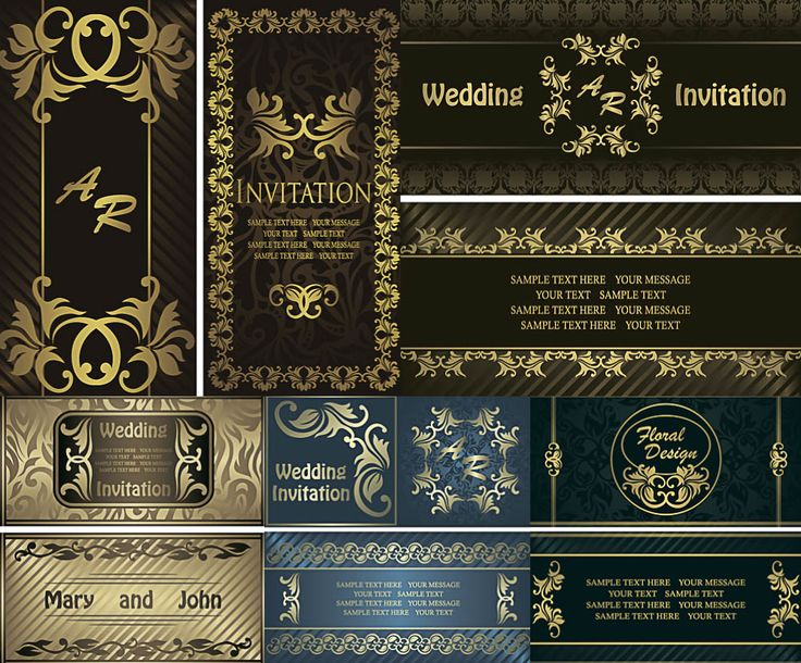 122 best wedding invitations cards backgrounds images on pinterest wedding invitations with floral ornaments in vertical shape vector stopboris Choice Image