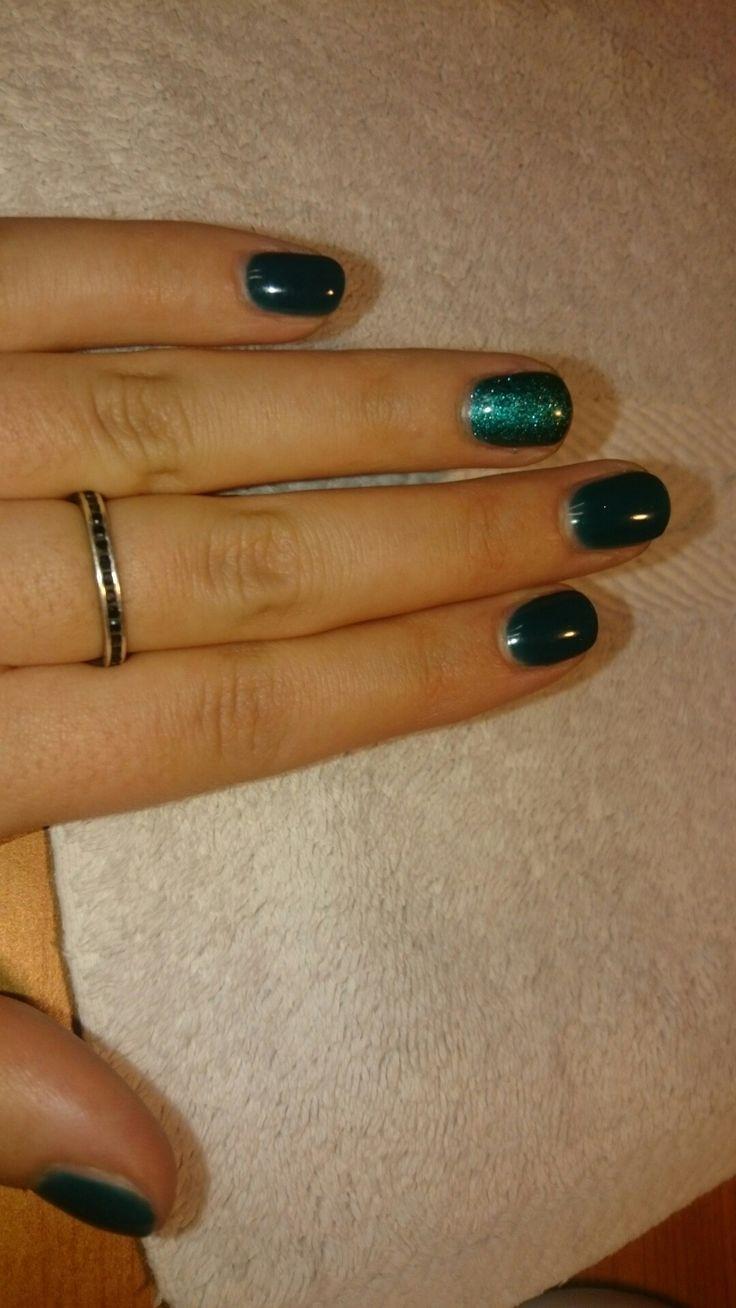 #smalto#unghie#verde#brillanti