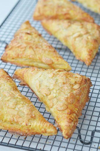 Appelkanjers met krokant amandellaagje, je kunt ze eenvoudig zelf maken.