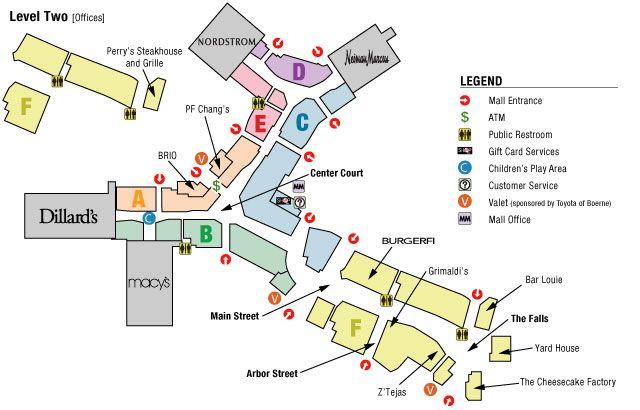 La Cantera Mall Map | World Map 07