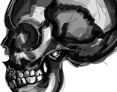 """Check out new work on my @Behance portfolio: """"Scribble Skull"""" http://on.be.net/1Rnzbyw"""