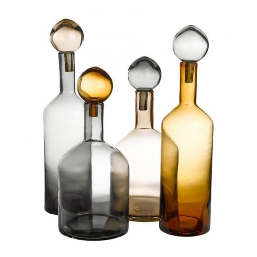 Pols Potten Bubbles & Bottles Chic Mix Set of 4 Glass Bottles