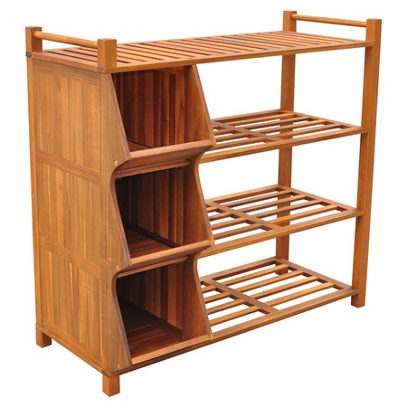 4 Tier Outdoor Shoe Rack And Cubby For Kids Toys