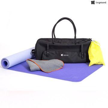 Výhodný kompletní set pro cvičení od značky Beground. Yoga  taška + velký Yoga ručník + velká Yoga cvičební matrace. Vše co potřebujete na vaše cvičení, špičková kvalita