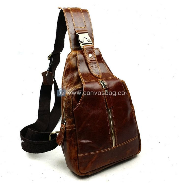 sling bags backpacks genuine leather sling bag for men | Genuine Leather Canvas Bag Wholesale