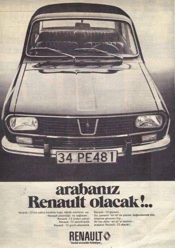 Renault 12 Print Ad in Turkish - arabanız Renault olacak - Renault will be your car