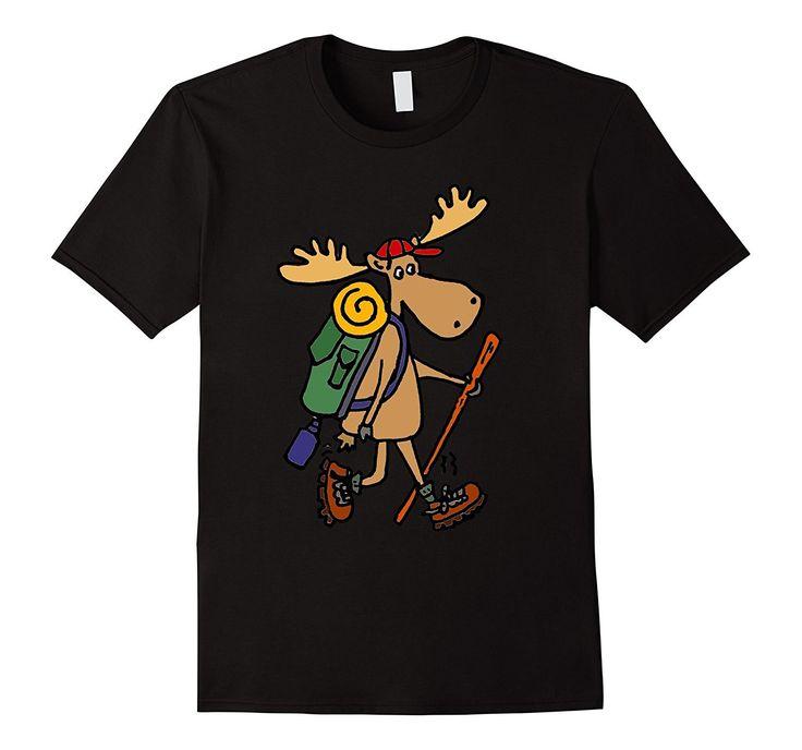 Smiletodaytees Funny Moose Hiking T-shirt