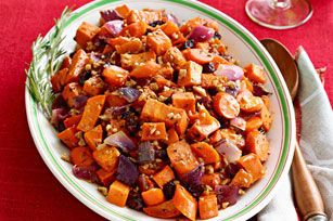 Maple and balsamic-glazed veggies with sweet cranberries and walnuts are a Canadian classic.