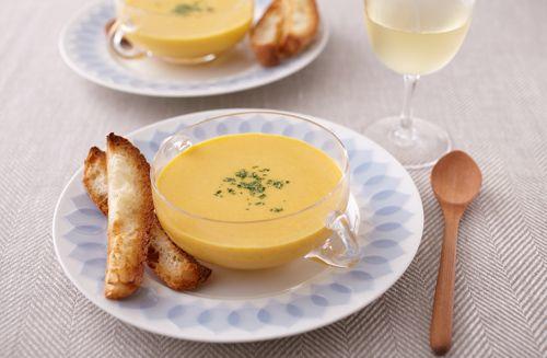 かぼちゃの冷たい豆乳ポタージュ | お酒にピッタリ!おすすめレシピ | サッポロビール