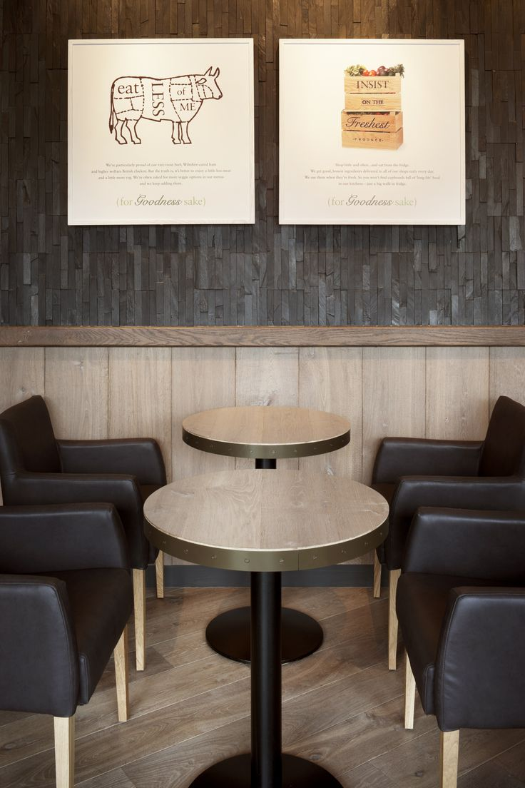 This Havwoods BPF21/1611/180 HENLEY Smoked Oak Jutland is used as table tops in Pret a Manger.