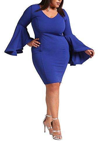 New Deb Shops Debshops Womens Plus Size Bell Sleeve Bodycon Dress online. Find the  great Meilun Dresses from top store. Sku scie31825rjhz94555