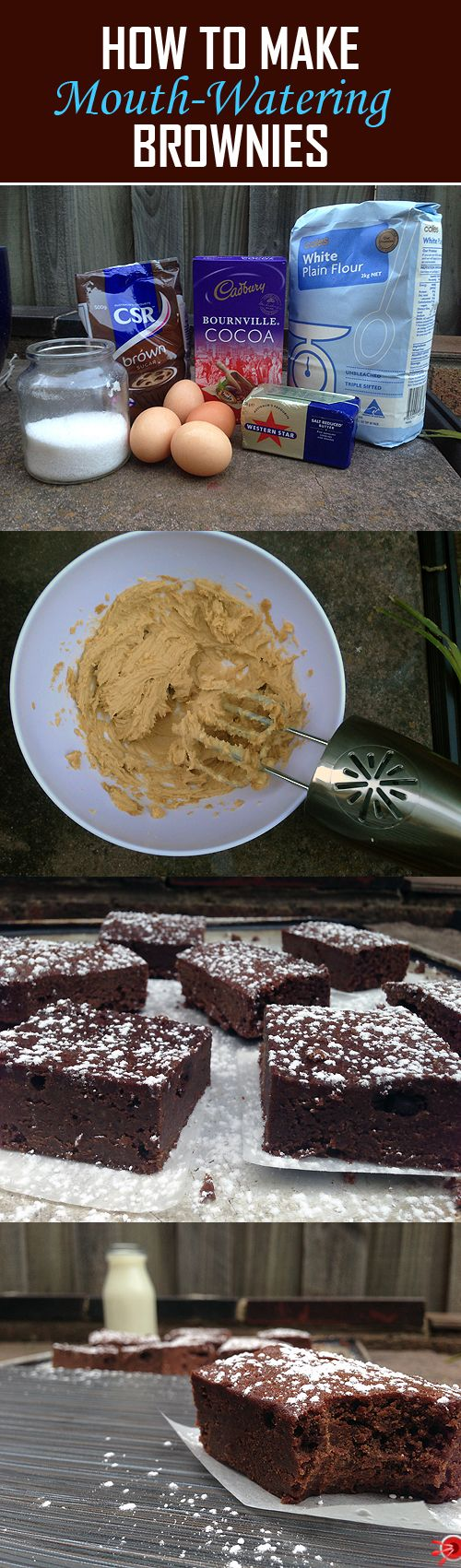 Follow our step-by-step guide on how to make your very own, delicious homemade chocolate brownies from scratch. These are simply to die for, believe me!