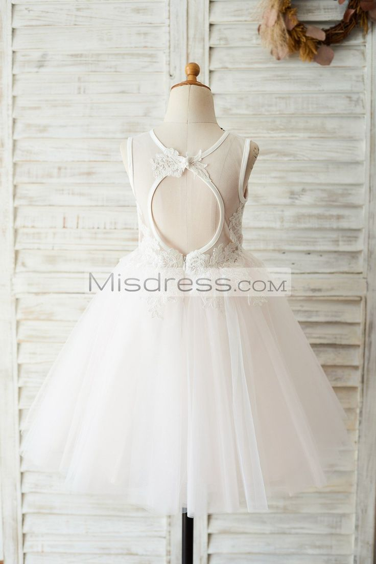 Ivory Lace Pink Tulle Wedding Flower Girl Dress with Keyhole Back  https://www.misdress.com/collections/flower-girl-dresses/products/ivory-lace-pink-tulle-wedding-flower-girl-dress-with-keyhole-back?utm_content=buffer251a5&utm_medium=social&utm_source=pinterest.com&utm_campaign=buffer  ivorygirldress #laceflowergirldress #tullebabygirldress #customcolordress #customdesigndress #wedding #weddingideas #weddingoptions #flowergirl #flowergirldress #roanticwedding #wedding #modernwedding #party…