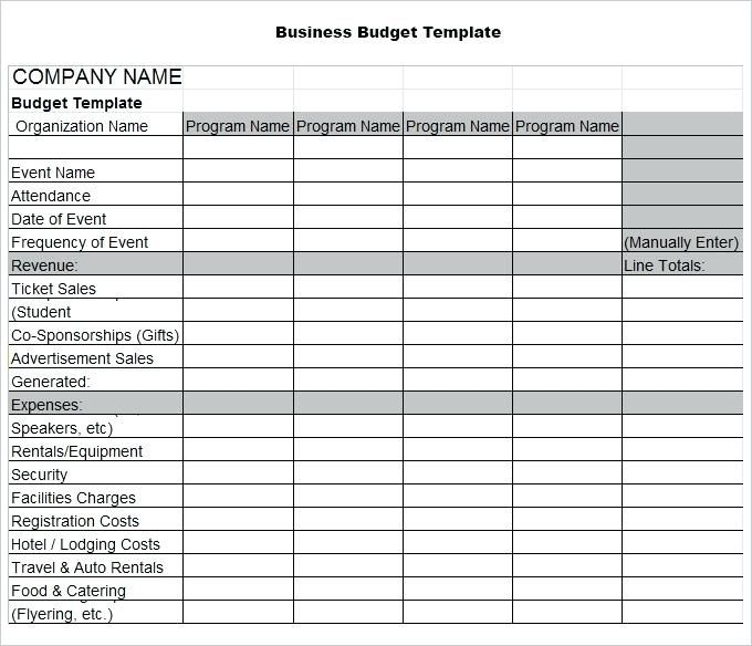 Business Budget Template 3 Free Word Excel Documents By Excel