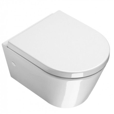 Saneux Jones 7612 White Mini Wall Hung WC