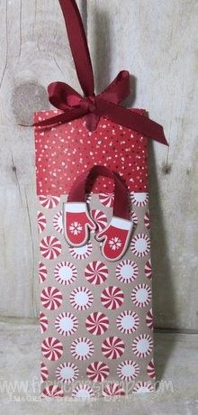 Stamp & Scrap with Frenchie: Christmas Chocolate bar easy wrap