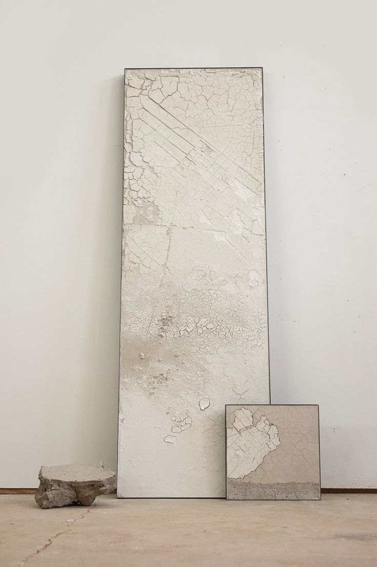 "Margaret Boozer:Frozen, with Peninsula and Found Clay, 2014 raw clays, sand, steel 72"" 32"" x 8"""