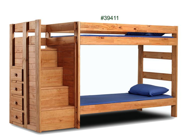 39411 Twin Staircase Bunk Bed 107L X 41W