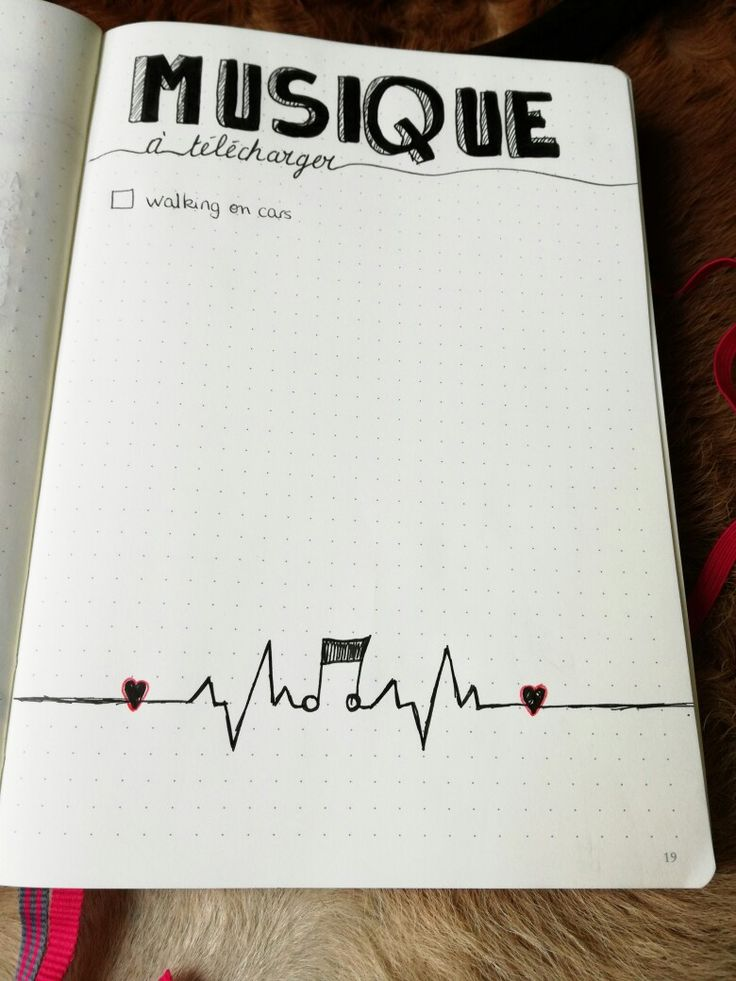 Bullet journal Collection musique