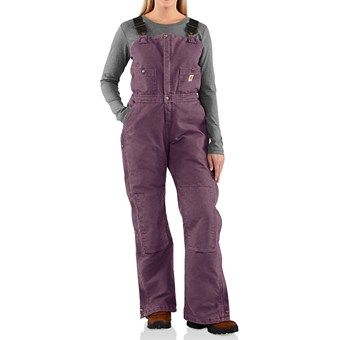 Carhartt Sandstone Bib Overalls - Insulated (For Women) WINTER AND SNOW!
