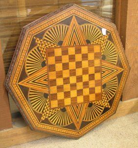 Victorian parquetry game board