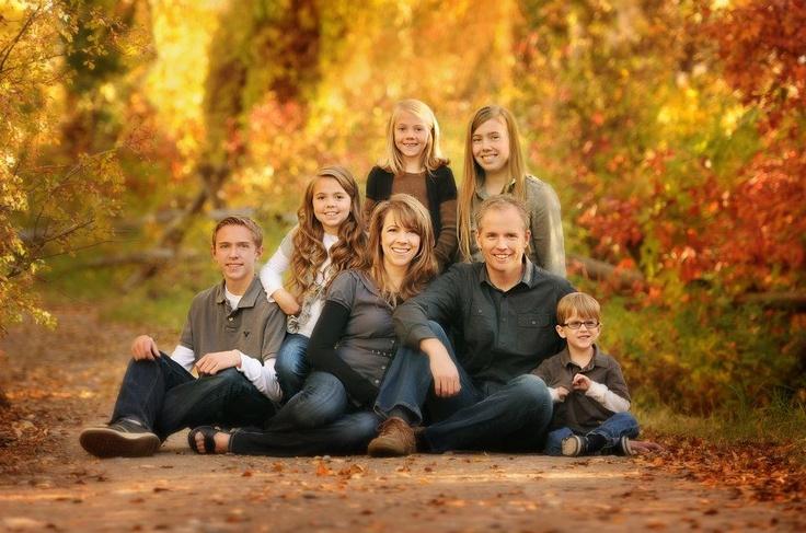 Family pose, fall